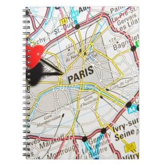 Paris, France Spiral Notebook
