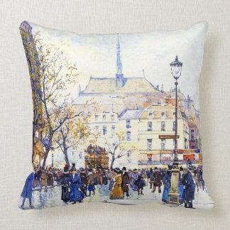 Paris France Strassenszene Fine Art Throw Pillow