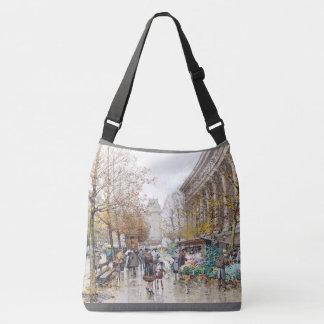 Paris France Street Flower Seller ShoulderTote Bag