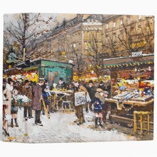 Paris France Street Flowers Vendors Avery Binder