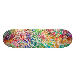 Paris France Street Map Skateboard