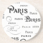 Paris France Typography Souvenirs Coaster