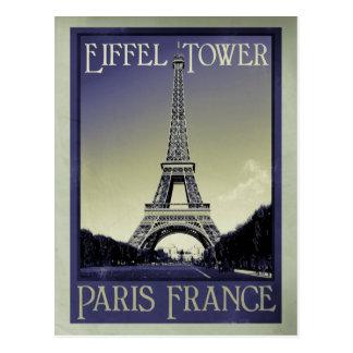 paris france vintage look postcard