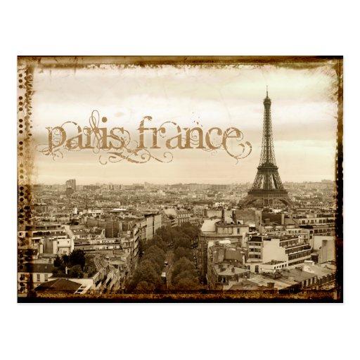 paris france vintage look post card