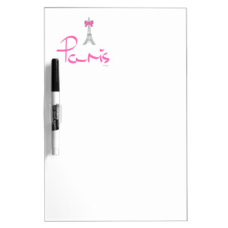 Paris,-France-with-Pink-Bow Dry-Erase Board