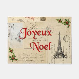 Paris French Postcards Christmas Doormat