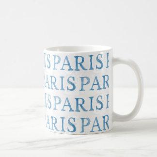 Paris French Text Watercolor Mug