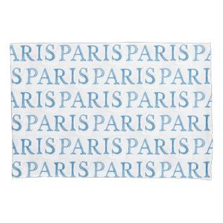 Paris French Text Watercolor Pillow Case