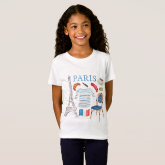 Paris French Watercolor Doodles Shirt