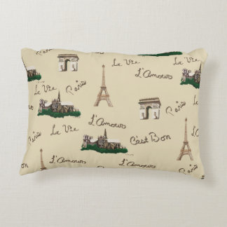 Paris Fun Decorative Pillow