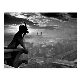 Paris Gargoyle 1920 Postcard