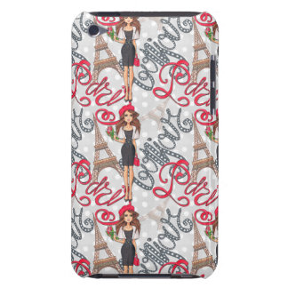 Paris Girl Bonjour Illustration iPod Touch Covers