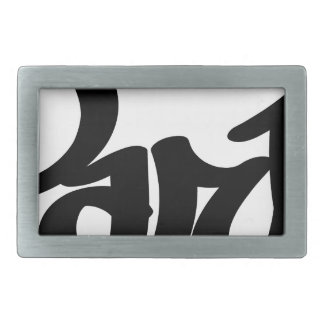 paris graffiti tag belt buckles
