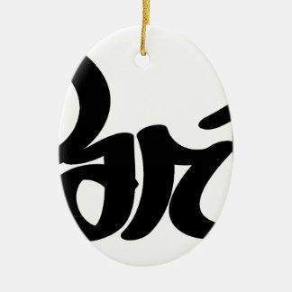paris graffiti tag ceramic ornament