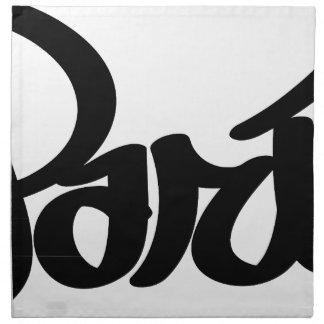 paris graffiti tag napkin