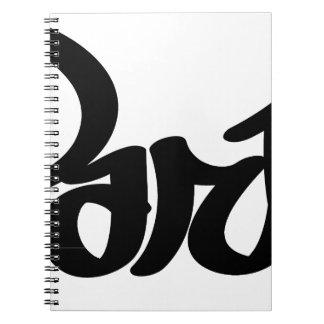 paris graffiti tag notebook