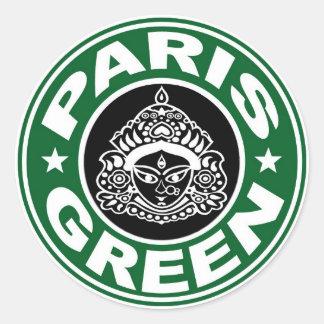 Paris Green Durga Sticker