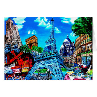 Paris greetings card