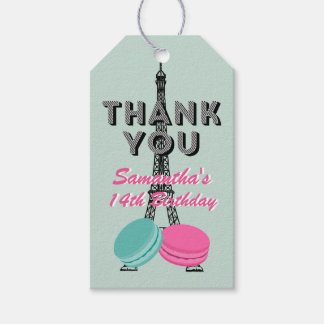 Paris Happy Birthday Thank You Gift Tag Pack Of Gift Tags