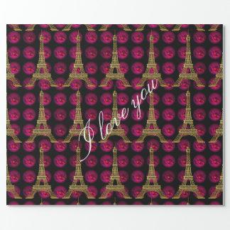 Paris Hot Villa  Elegant Customize Wrapping Paper