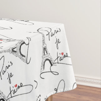 Paris I Love You PXLY Tablecloth