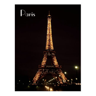 Paris Illuminations: The Eiffel Tower Postcard