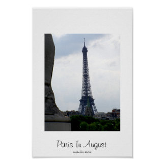 Paris In August Poster