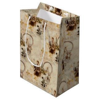 Paris in Brun Medium Gift Bag