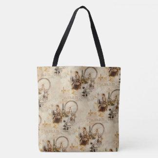 Paris in Brun Tote Bag