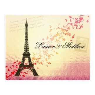 Paris in Love - Eiffel Tower Postcard
