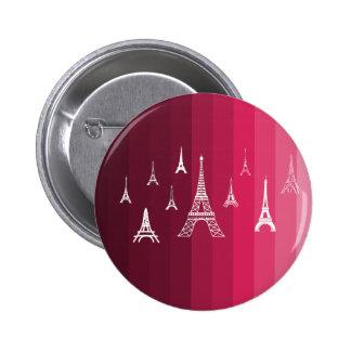 Paris in Pink 2 Inch Round Button