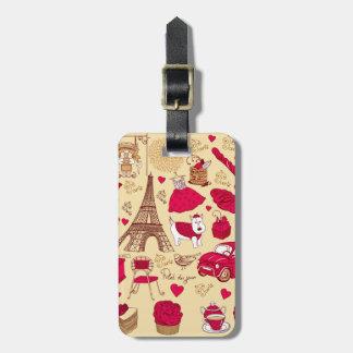 Paris in Pink 2 Luggage Tag