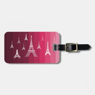Paris in Pink Luggage Tag