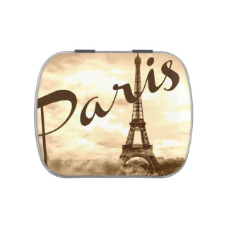 Paris in Sepia Candy Tin