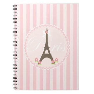 Paris in Spring Girly Notebooks