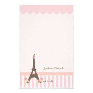 Paris in Spring Girly Stationery