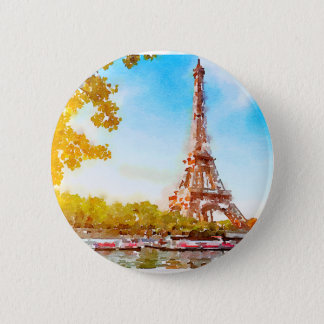 Paris in The Fall 2 Inch Round Button