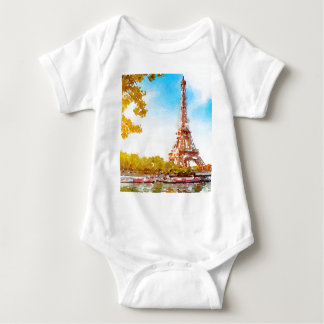 Paris in The Fall Baby Bodysuit