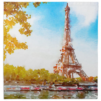 Paris in The Fall Napkin