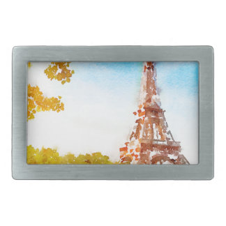 Paris in The Fall Rectangular Belt Buckle
