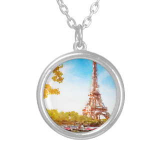 Paris in The Fall Silver Plated Necklace