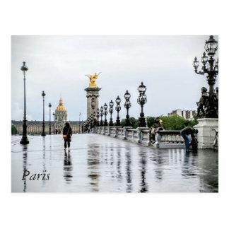 Paris in the rain Postcard