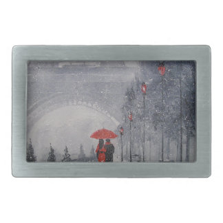 Paris in the snow belt buckle