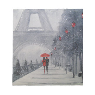 Paris in the snow notepad