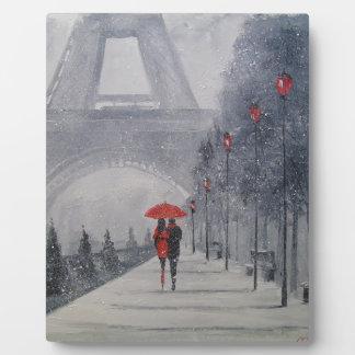 Paris in the snow plaque