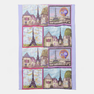 Paris Inspired Cityscapes And The Eiffel Tower Ame Kitchen Towel
