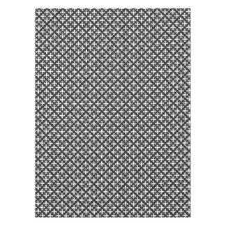 Paris Inspired Fleur De Lis Black and White Design Tablecloth
