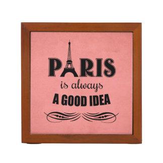 Paris is always a good idea desk organizer