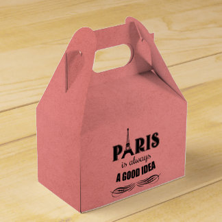 Paris is always a good idea favor box