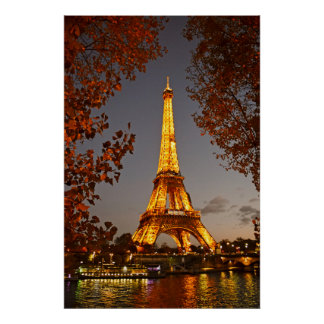 Paris is Always a Good Idea for a Nighttime Stroll Poster